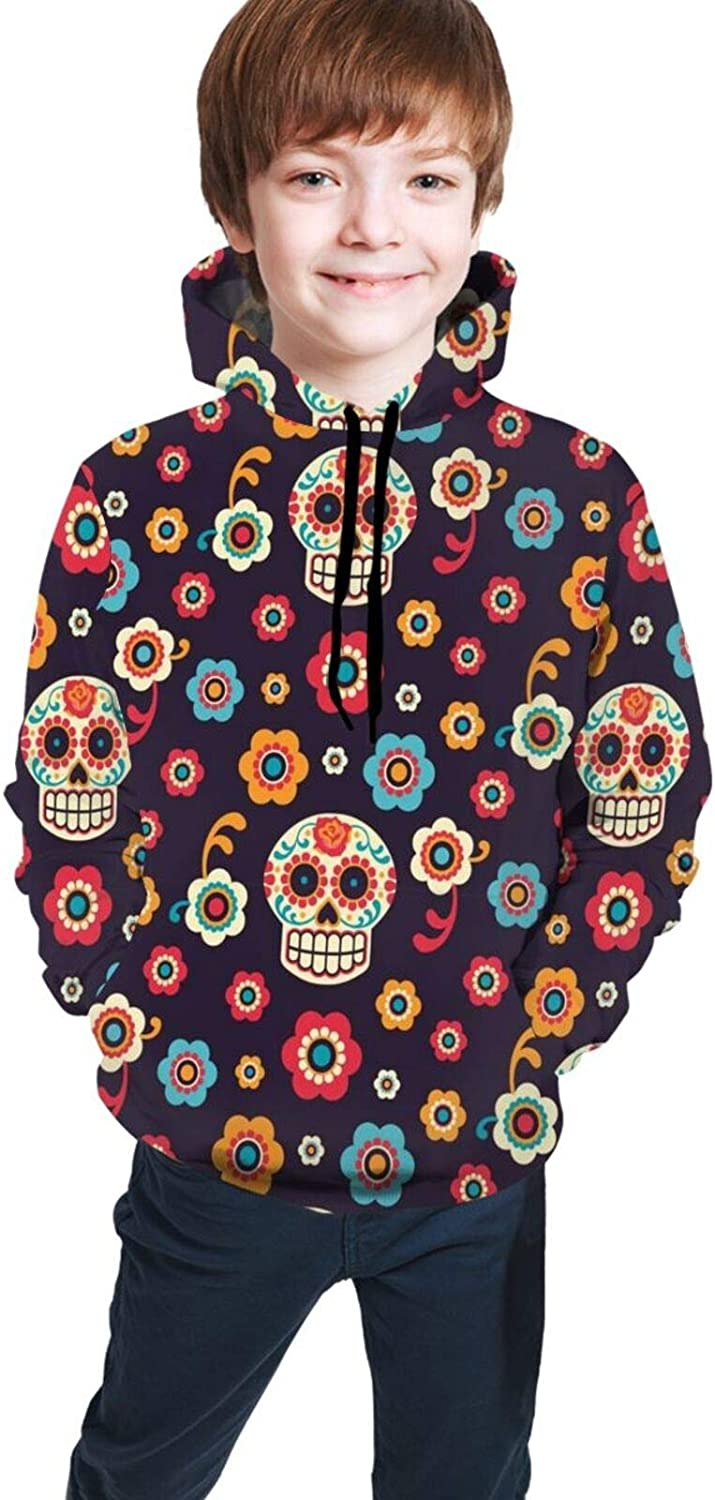 Kimisoy Sugar Skulls Hooded Sweater for Girls Sof Warm Boys All stores are Max 71% OFF sold Coat