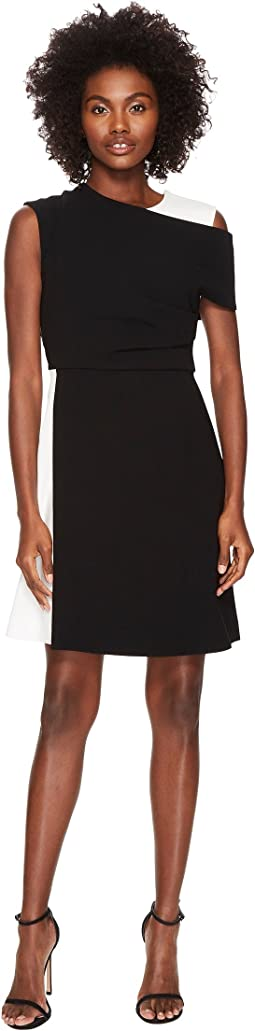 Sportmax Dalmata Cold Shoulder Dress