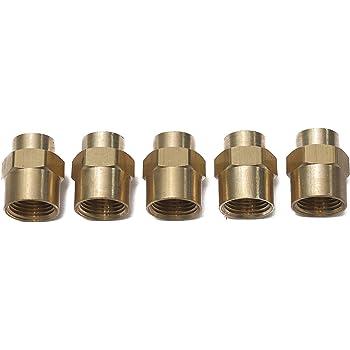 Reducer Hex Head Coupling Vis Reducing Brass Pipe Fitting 3300DC, 1pcs 1//2 NPT Female x 3//8 NPT Female
