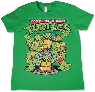 818f5469c11 Teenage Mutant Ninja Turtles T Shirt Group Shot Official Kids New Green  3-12Yrs