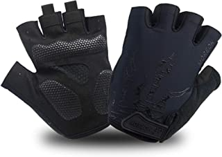 MOREOK Shock-Absorbing Breathable Biking Cycling Gloves Half Finger Outdoor Sport Bicycle Gloves Mountain Road Bike Riding Gloves for Men and Women