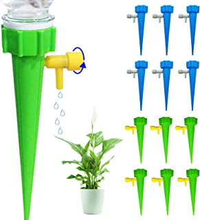 Rpxpv 12 Pcs Plant Self Watering Spikes, Premium Plant Watering Devices with Slow Release Control Valve, Never Stopping Co...