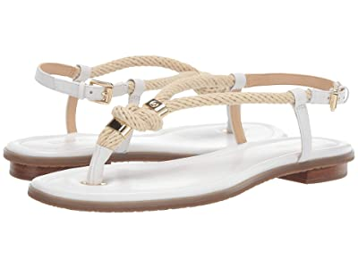 MICHAEL Michael Kors Holly Sandal (Optic White Rope/Nappa) Women
