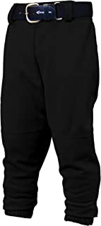 Youth PRO Pull UP Baseball Softball Pant | 2020 | Youth Size | Drawstring Waistband | Batting Glove Back Pocket | Elastic Bottom Opening | 100% Polyester