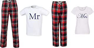 60 Second Makeover Limited Mr and Mrs Couples Matching Pyjama Tartan Set Couples Twinning Family