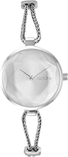 RumbaTime Women's 'Gramercy Mesh' Quartz Stainless Steel Casual Watch, Color:Silver-Toned (Model: 28119)
