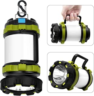 Wsky Rechargeable Camping Lantern Flashlight, 6 Modes,...