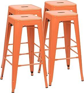 Fantastic Orange Home Kitchen Bar Stools Amazon Com Camellatalisay Diy Chair Ideas Camellatalisaycom