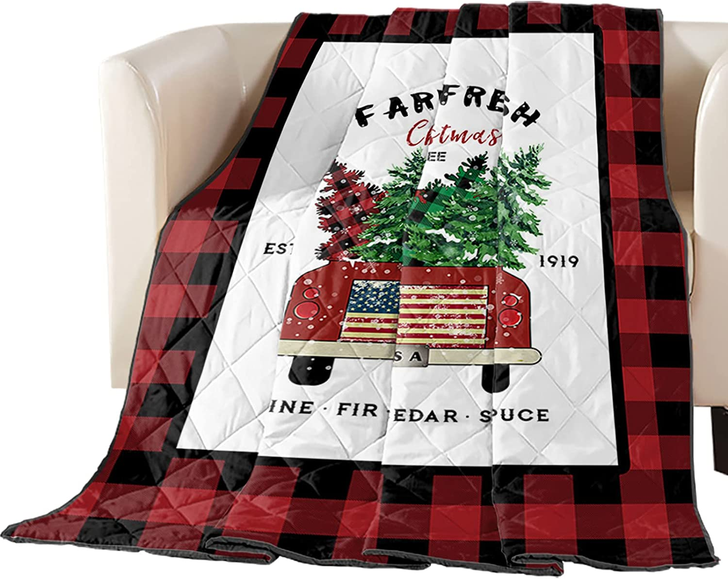 Premium Coverlet Diamond Stitched Quilted Truck Retro Ranking TOP15 Jacksonville Mall 82x85in wi