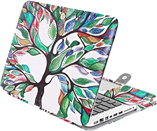 MOSISO PU Leather Case Only Compatible with Old MacBook Pro 13 Inch with CD-ROM A1278, Premium Quality Book Folio Protective Cover Sleeve with Stand Function, Love Tree