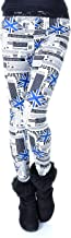 Anna-K Small Fit Grey Black White Ad Print Collage Blue British Flag Leggings