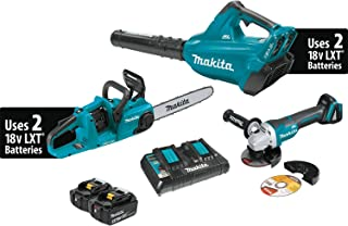 Makita XT276PTX 18V X2 (36V) LXT Lithium-Ion Brushless Cordless 2-Pc. Combo Kit (5.0Ah) and Brushless Angle Grinder