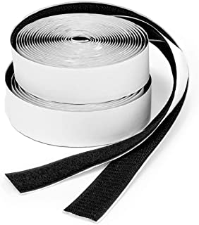 BRAVESHINE 2 Rolls 16.5FT Heavy Duty Strips with Adhesive - 1.2 Inch Double Sided Sticky Back Hook Loop Tape Fastener for ...