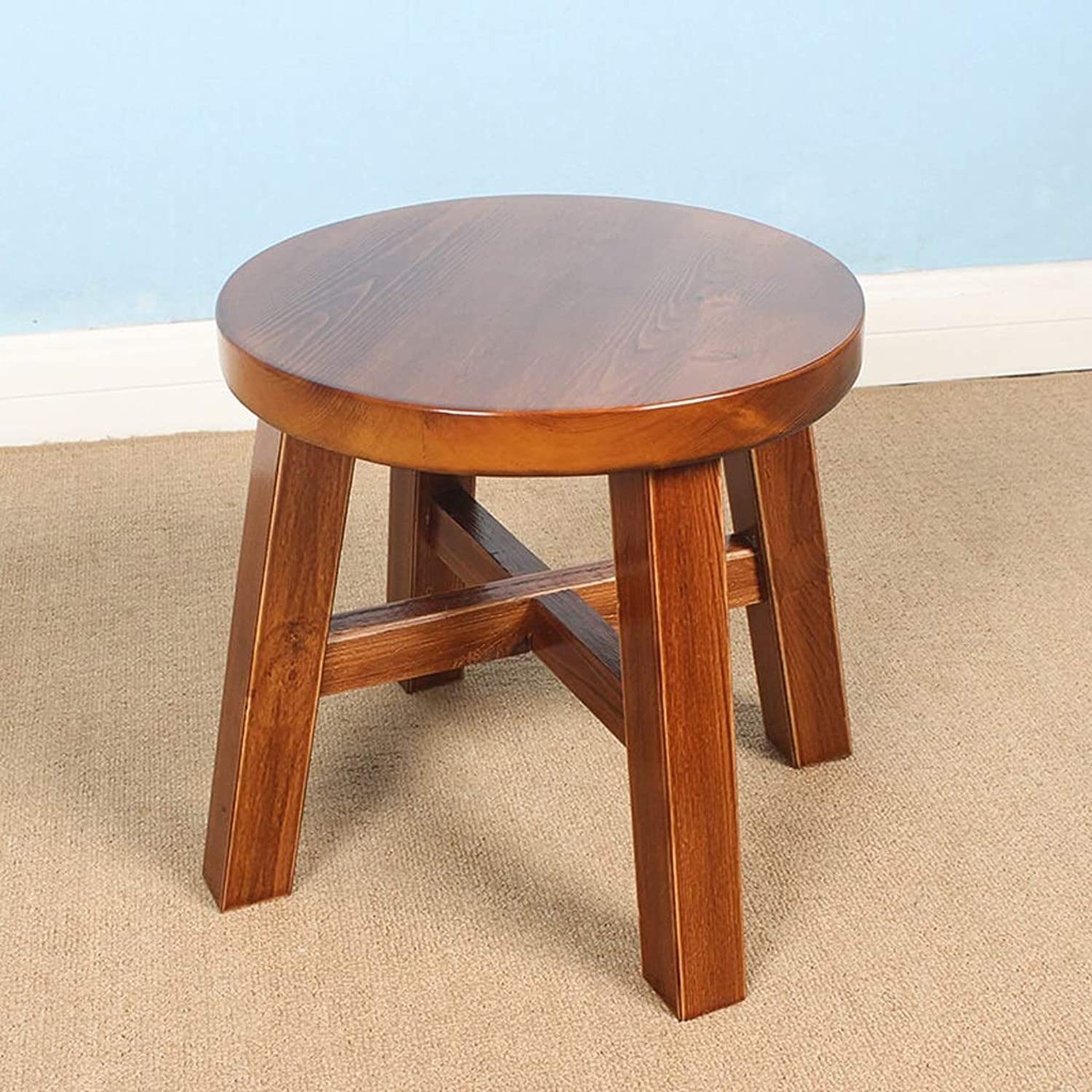 Lsxlsd Living Room Home Stool Creative Solid Wood Adult Small Bench Fashion Simple Modern Stool