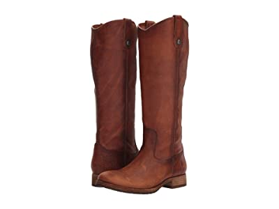 Frye Melissa Button Lug Tall (Cognac) Women