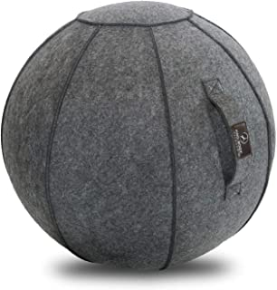 ProBody Pilates Sitting Ball Chair with Handle for Home, Office, Pilates, Yoga, Stability and Fitness - Includes Exercise ...