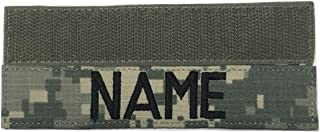 Custom ACU Multicam OCP Black ABU OD Green Desert CivilAirControl, US ARMY US Air Force USAF MARINES POLICE, Name Tape or Branch Tape, with Fastener or Sew-On (With Fastener, ACU)