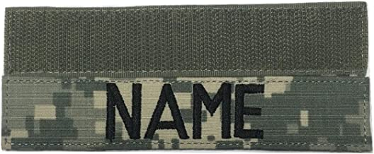 US Army Name Tape Or US Army Tape, with Fastener Or Sew-On, ACU, Multicam OCP, Black, OD Green, Desert Tan, White (with Fastener, ACU)