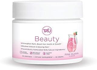 TRU Beauty - Biotin and Vitamin Powder for Hair Growth, Strong Nails, and Healthy Skin   Natural Formula, Vegan Friendly, ...