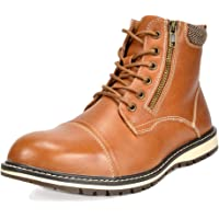Bruno Marc Men's Apache Motocycle Combat Ankle Boots (various colors and sizes)