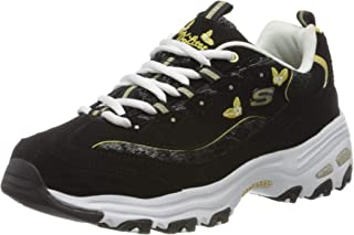 SKECHERS D'Lites, Women's Sneakers, Multicolour (Black/Gold), 40 EU