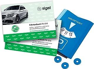 Sigel rittenboek voor auto, A6 liggend, 40 vellen 2 stuks + parkeerschijf. 2 Stuk + Parkscheibe 2 Stuk + Parkscheibe
