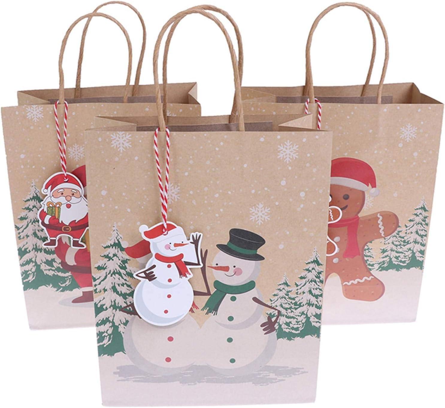 None Brand 6Pcs New Khaki Christmas Recommendation w Bags Santa Bag Large discharge sale Kraft Paper