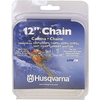 "Sierra de cadena compatible con Husqvarna 351 45 cm 325/"" 72 TG 1,5 mm halbmeißel Chain"
