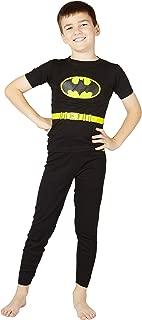 DC Comics Batman Boys Classic Cotton Tight Fitting Pajama, Black, 10