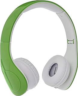 Amazon Basics Casque audio filaire à niveau sonore limité pour enfants avec double entrée pour le partage d'écoute, Vert