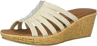 Skechers BEVERLEE - Multi-Strap Rhinestone Sandal womens Wedge Sandal