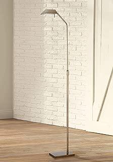 Modern Pharmacy Floor Lamp Halogen Antique Brass Adjustable Metal Shade for Living Room Reading Bedroom Office - Possini Euro Design