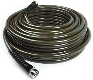 Water Right 400 Series Polyurethane Slim & Light Drinking Water Safe Garden Hose, 25-Foot x 7/16-Inch, Brass Fittings, Olive Green, USA Made