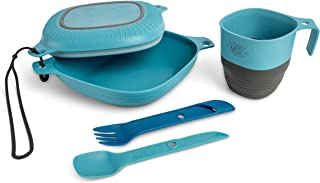UCO 6-Piece Camping Mess Kit with Bowl, Plate, Camp Cup, and Switch Spork Utensil Set