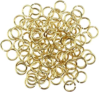 Prettyia 100/pack Gold Open Jump Rings Loops Jewelry Making Supplies 6mm 8mm 10mm 12mm 14mm