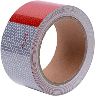 High Intensity DOT-C2 Reflective Tape 2in x 30ft Red and Silver Safety Conspicuity Tape