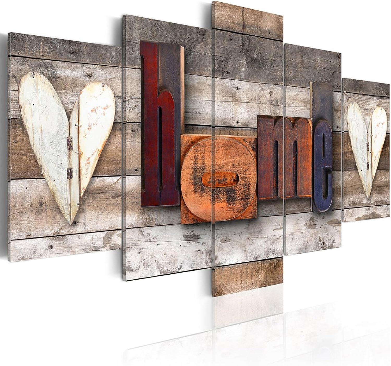 Decomonkey Akustikbild Home 200x100 cm XXL 5 Teilig Teilig Teilig Bilder Leinwandbilder Wandbilder XXL Schallschlucker Schallschutz Akustikdämmung Wandbild Deko leise Haus Holz B07CP7BVM9 64e44a