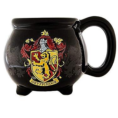 Silver Buffalo HP12063D Harry Potter House Gryffindor Crest Cauldron Ceramic 3D Sculpted Mug, 20 oz