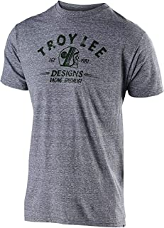 Troy Lee Designs Men's Racing Specialist T-Shirt (X-Large, Vintage Gray Snow)