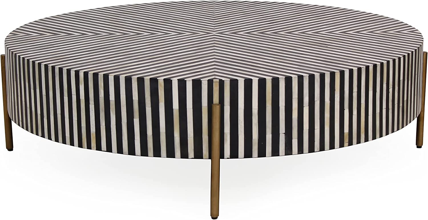 Moe's Home Art Deco Chameau Large Store Multi-Color Table Regular store with Coffee