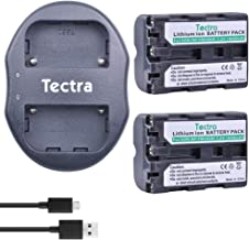 Tectra 1800mAh Sony NP-FM500H Replacement Battery (2-Pack) and Dual USB Charger for Sony Alpha SLT-A57, A58, A65V, A77V, A99V, A77V, A77II, A350, A450, A500, A550, A700, A850, A900, CLM-V55