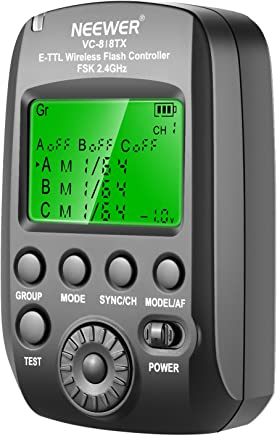 Neewer VC-818TX 2.4G Transmisor Disparador Inalámbrico para Canon EOS, Cámara DSLR y Vision 5 al Aire Libre Estudio Flash Estroboscópica Monolight