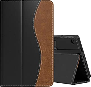 MoKo Case Fits Kindle Fire 7 Tablet (9th Generation, 2019 Release), Premium PU Leather Slim Folding Stand Shell Multiple V...