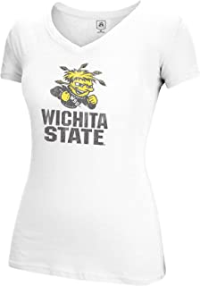 J America NCAA Wichita State Shockers Women's Large Mascot Essential Tee, White, Large