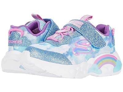 SKECHERS KIDS Sport Lighted Rainbow Racer 302300N (Toddler) (Blue) Girl