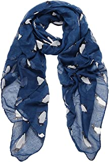 Lowpricenice Women's Lady Penguin Print Shawl Voile Rectangle Scarf Scarves