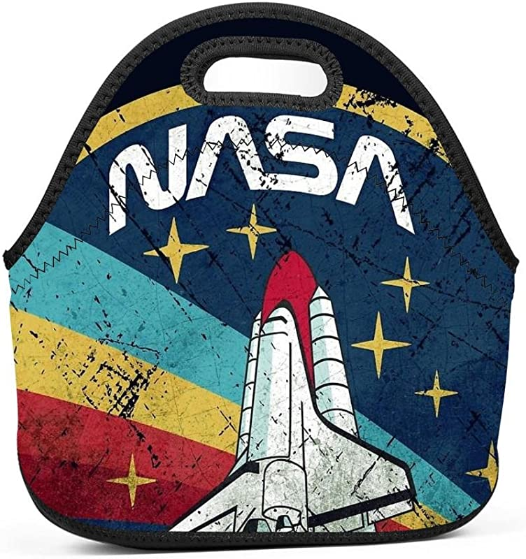 NASA Vintage Insulated Lunch Bag Lunch Box Waterproof Lunch Tote Bag For Men Women Students