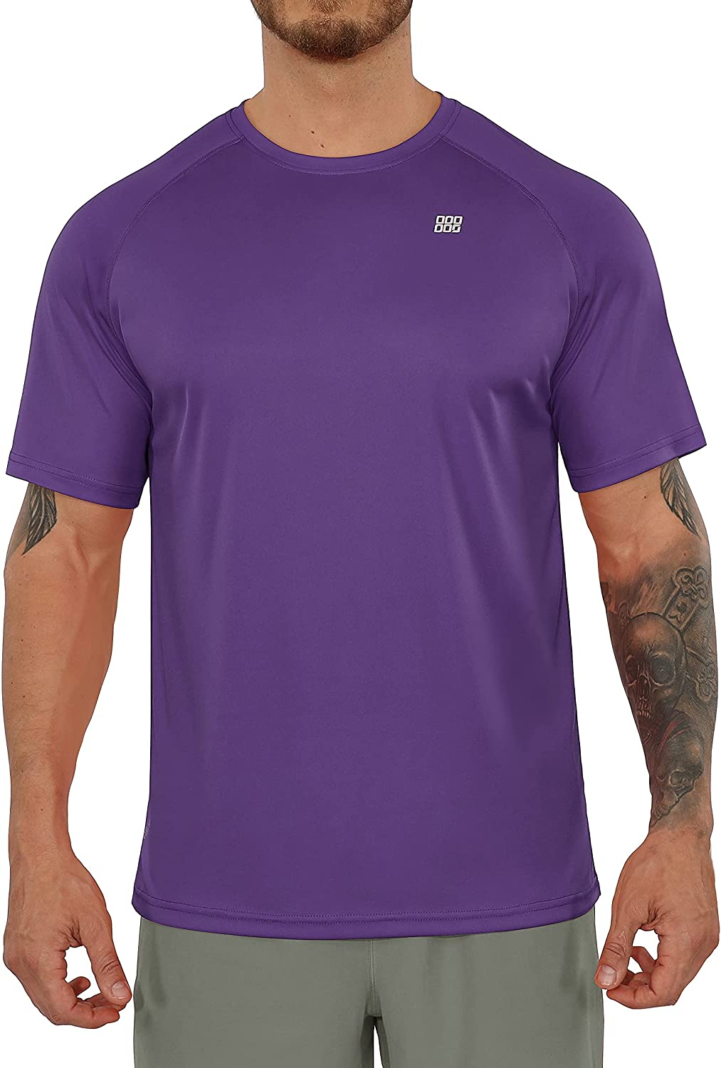 ODODOS Men's Classic Fit Long and Short Sleeve T-Shirts UPF 50+ Sun Protection SPF Athletic Tee Hiking Fishing Workout Tops