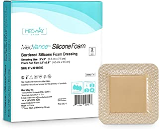 MedVanceTM Silicone - Bordered Silicone Adhesive Foam Dressing, Size 3