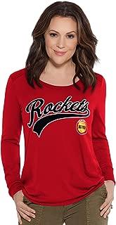 NBA Houston Rockets Adult Women Redzone Top, Medium, Red
